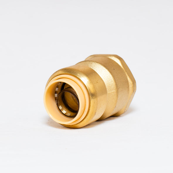 Brass Push Fit Style x Female Pipe Thread Adapter