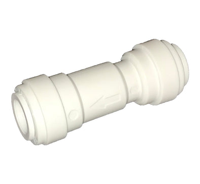 "Quick-Connect, Polypropylene, 3/8"" Check Valve, Push-to-Connect, RO"