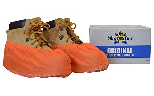 ShuBee Original Shoe Covers, Orange (50 Pair)