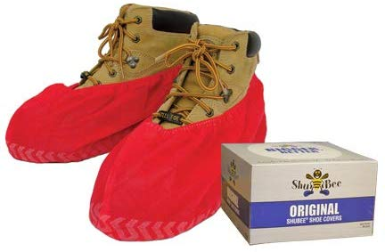 ShuBee Original Shoe Covers, Red (50 Pair)