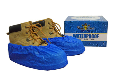 ShuBee Waterproof Shoe Covers - Light Blue (40 Pair)