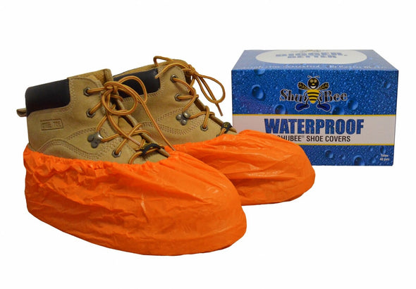 ShuBee Waterproof Shoe Covers - Orange (40 Pair)