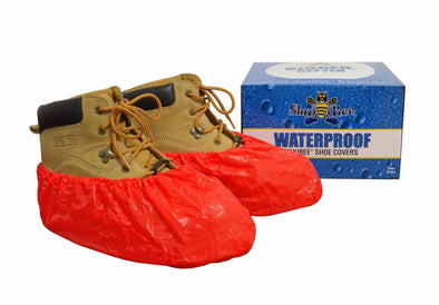 ShuBee Waterproof Shoe Covers - Red (40 Pair)