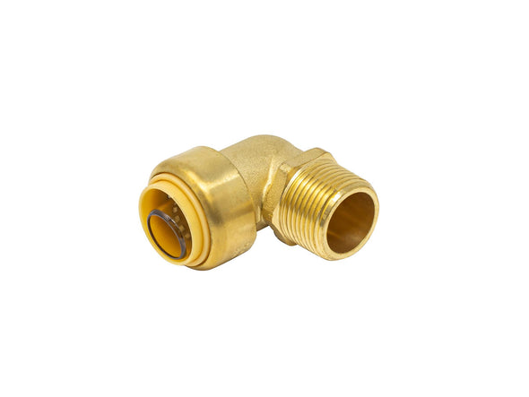 Brass Push Fit Style x Male Pipe Thread Elbow