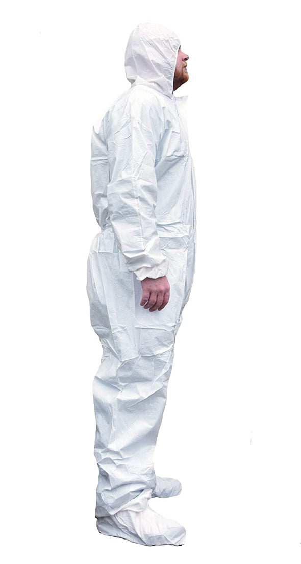 ShuBee EnviroShield Coveralls With Attached Boot Covers