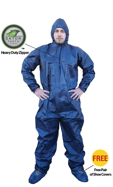 ShuBee HydroShield Waterproof Coverall with Hood Dark Blue