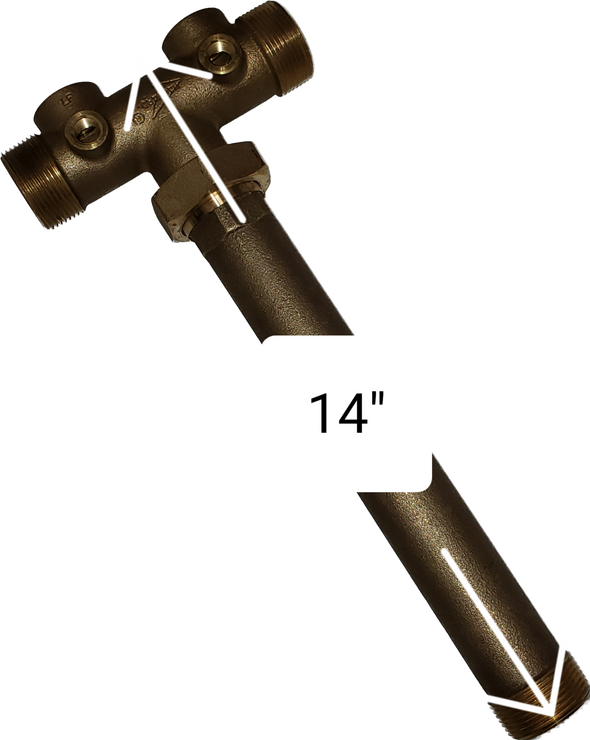 "Pressure Tank Tee, 14"" Union, Brass, Water Well Pressure Tank Lead Free"