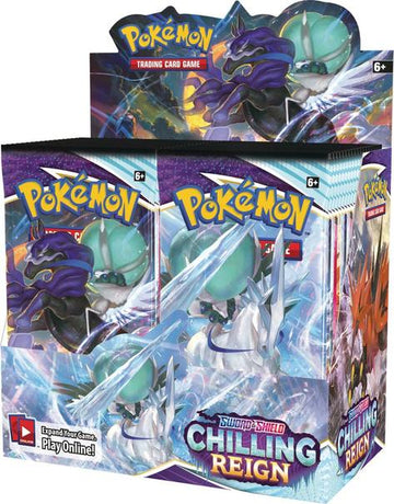 Pokemon Sword & Shield 06 Chilling Reign Booster Box