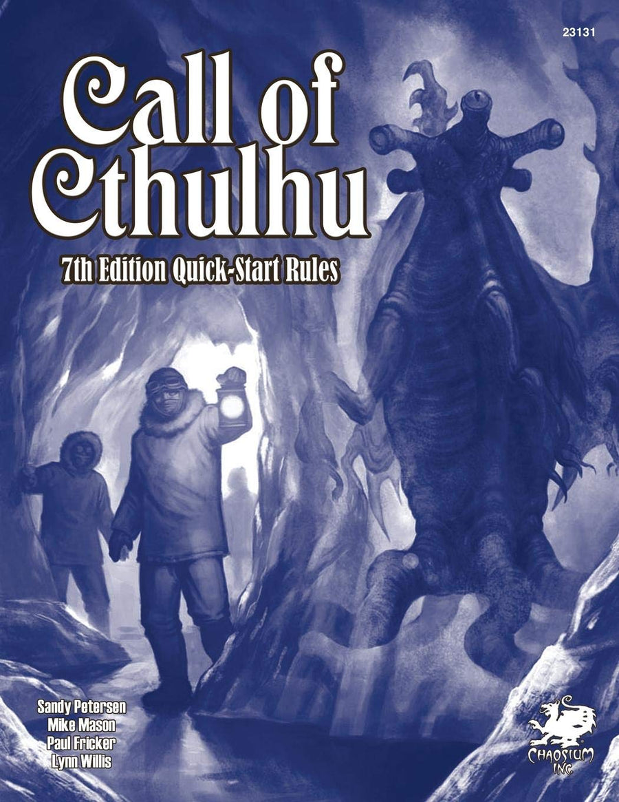 Call Of Cthulhu Seventh Edition Quick-Start Rules