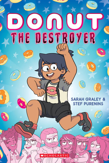 Donut the Destroyer w/signed holo-sticker bookplate and pin! [PRE-ORDER]