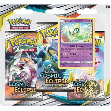 Pokemon TCG Sun & Moon Cosmic Eclipse 3 Pack Blister Celebi