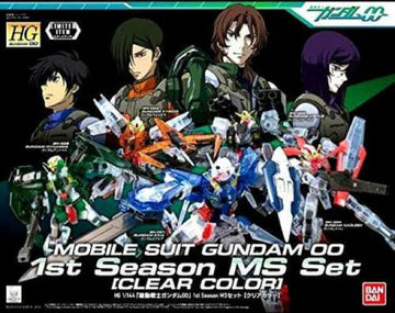 Gundam 00 Season 1 Clear Color MS Set Model Kit