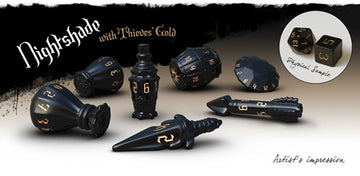 PolyHero Rogue Dice Set Nightshade