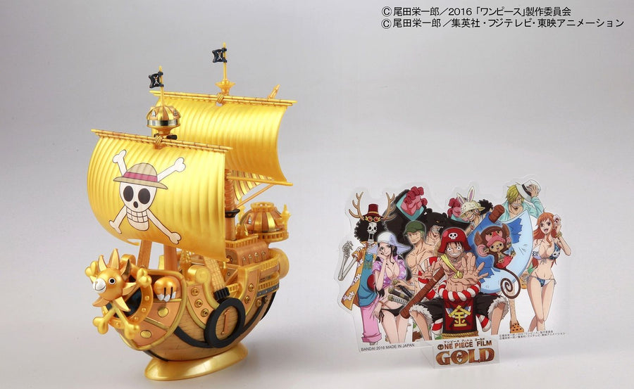 One Piece Grand Ship Collection Thousand Sunny Gold Colour Ver Model Kit