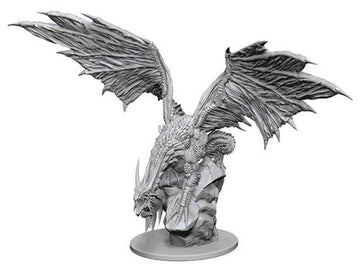 Pathfinder Deep Cuts unpainted Minis: Silver Dragon (W12.5)