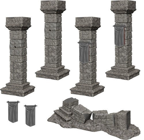 Pathfinder Deep Cuts Unpainted Minis: Pillars And Banners