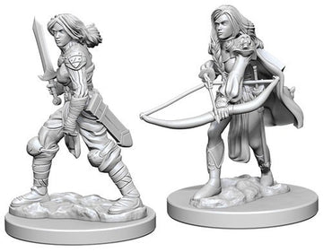Pathfinder Deep Cuts Unpainted Minis: Human Female Fighter