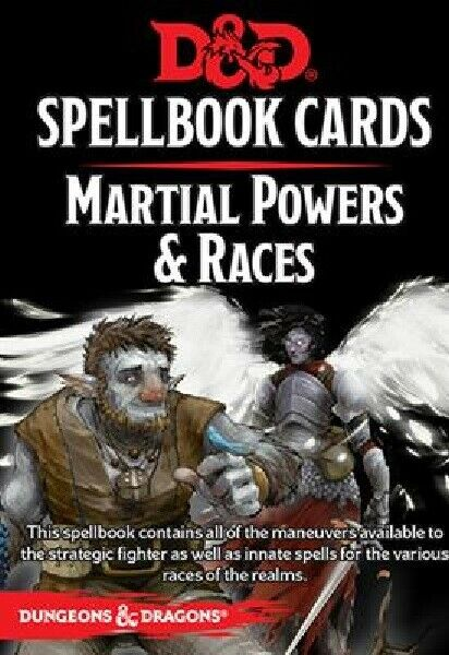 Dungeons & Dragons Spellbook Cards Martial Power & Races