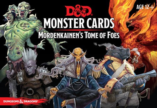 D&D Monster Cards Mordekainen's Tome Of Foes