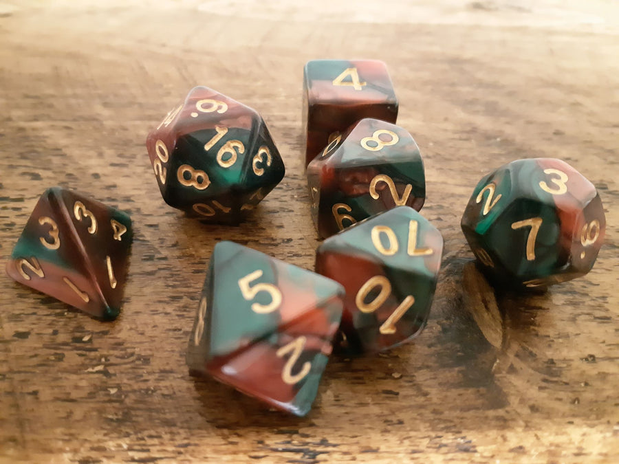 Double-Colour Dice 7 Set
