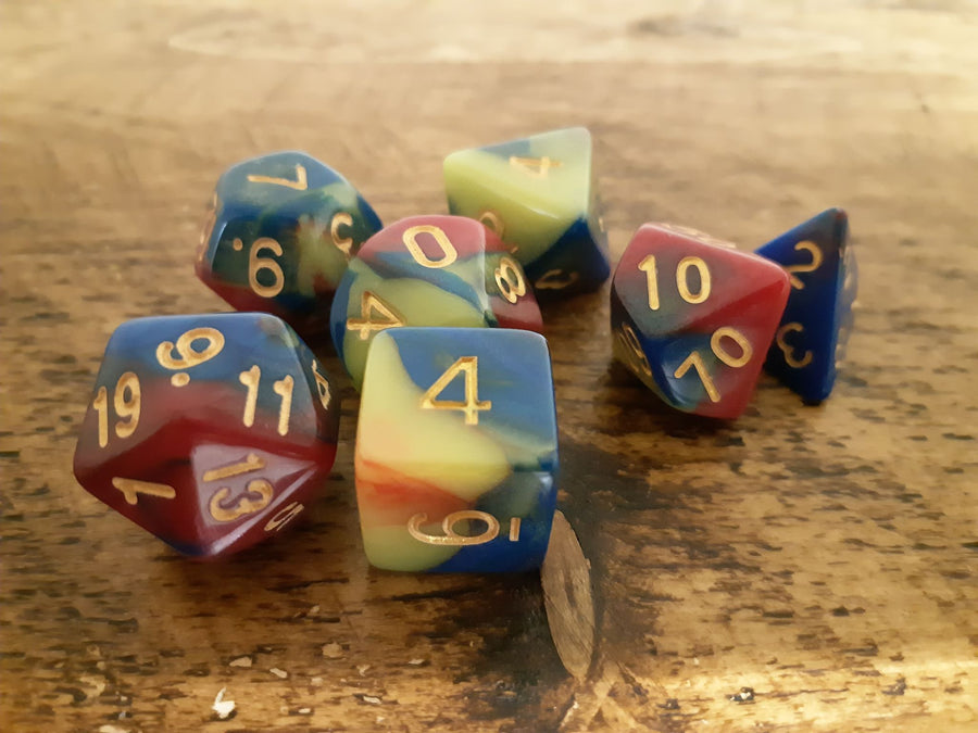 Tri-Colour Dice Set 7