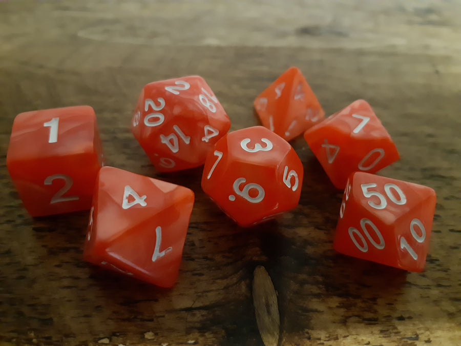 Marble Effect Dice Set 7
