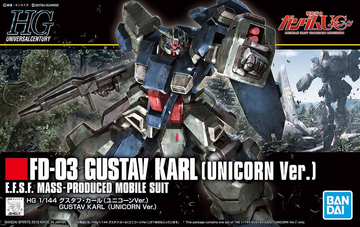 HGUC FD-03 Gustav Karl (Unicorn Ver) 1/144 Model Kit