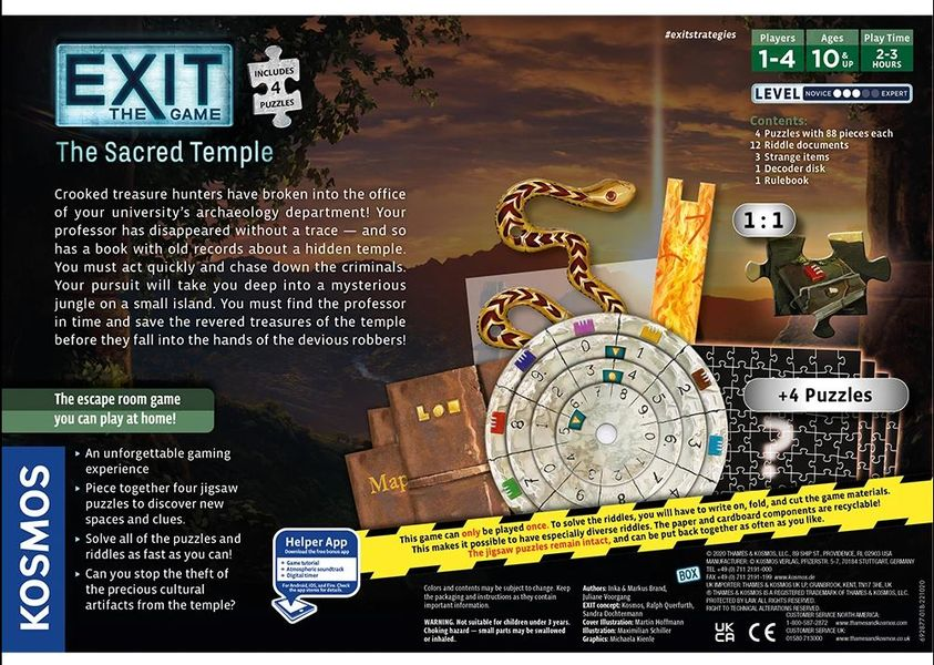 Exit The Game + Puzzle: The Sacred Temple