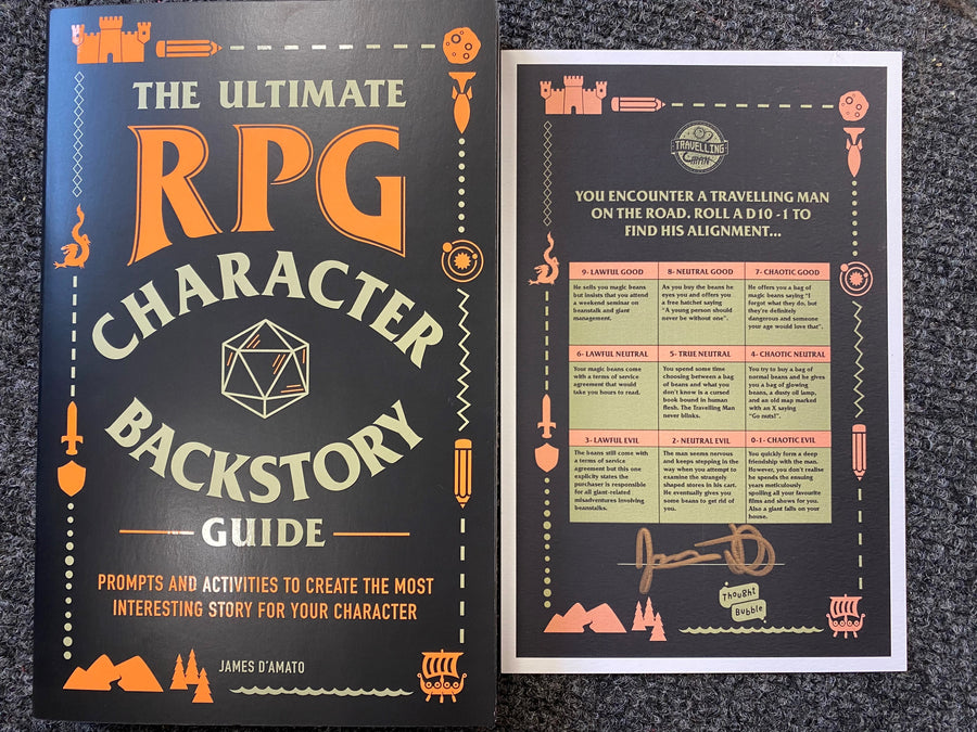 The Ultimate RPG Character Backstory Guide *with Travelling Man exclusive SIGNED bookplate!!!*