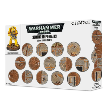 Warhammer 40K Sector Imperialis 32mm Round Bases