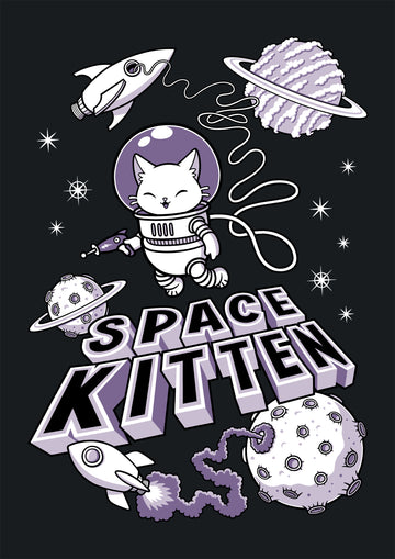 Space Kitten Ladies T-Shirt