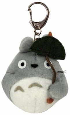 Fluffy Keychain Totoro With Umbrella