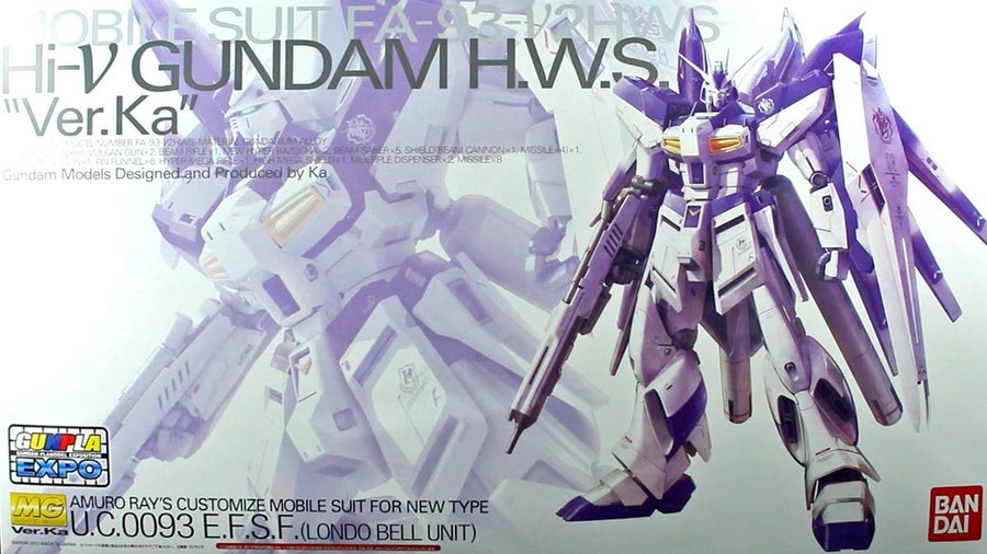 MG Gundam Hi Nu Ver KA HWS 1/100 Model Kit