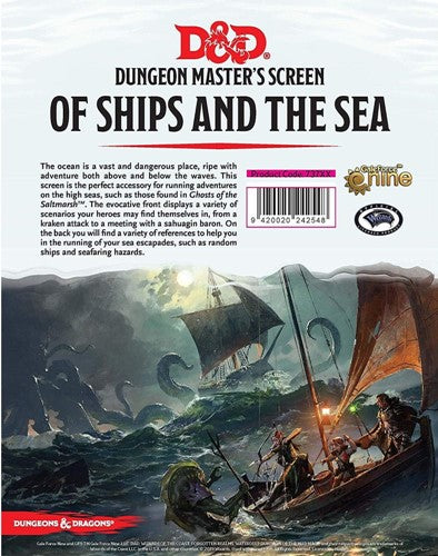Dungeons & Dragons Of Ships And Of Sea DM Screen