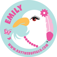 Emily the Eagle button