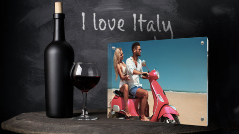 Kluger Punkt Photo Frame Italy Man & Woman on a bike