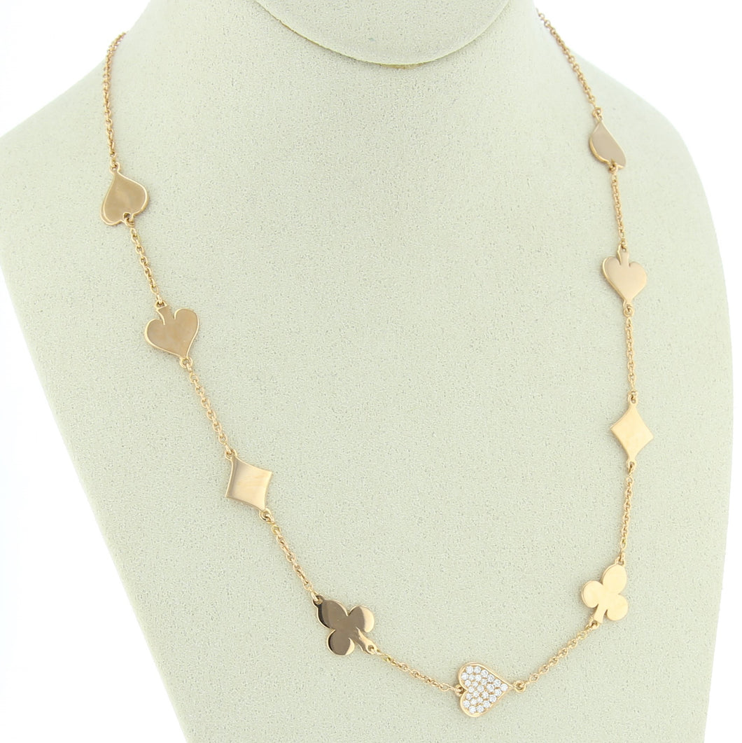 Collier Suite Royal, Coeur en diamants, Collection Poker