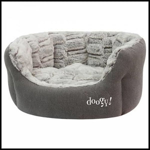 Corbeille ouatinée Doogy whooly taupe - Confort