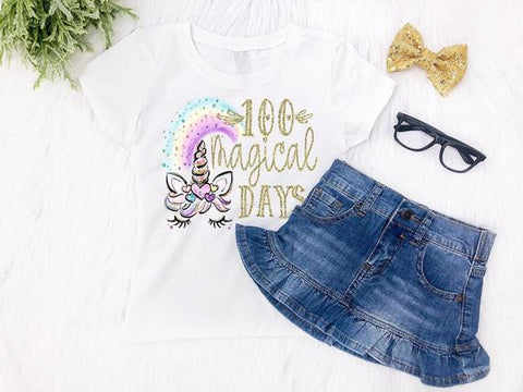 Girls 100 Days of School Top