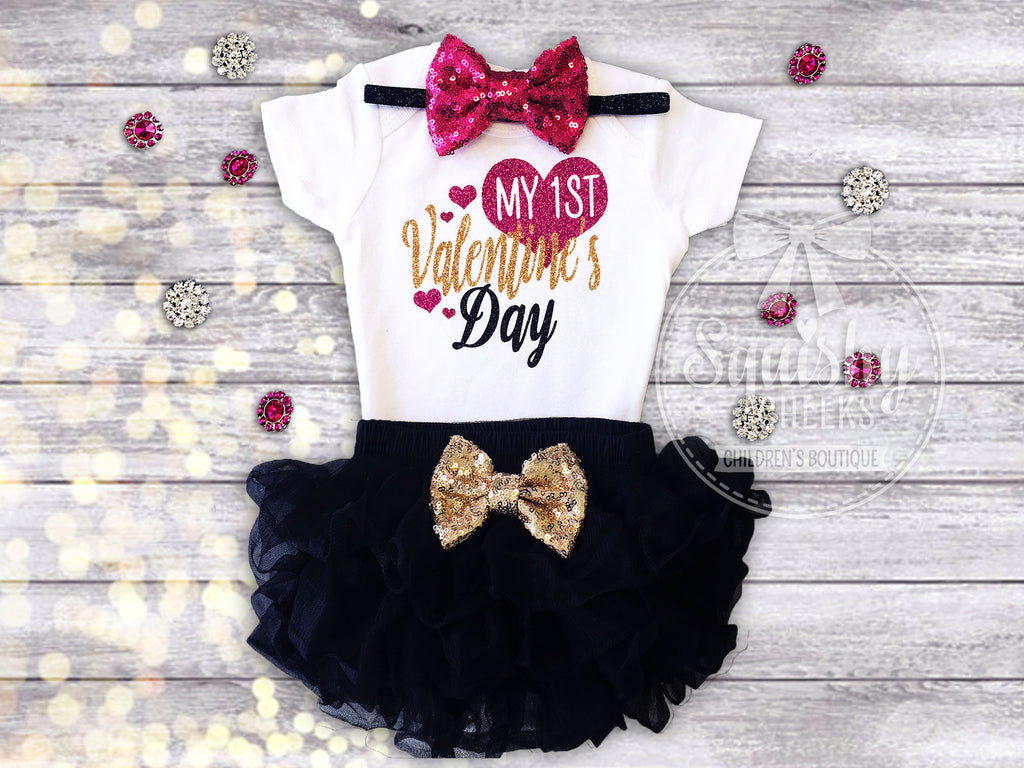 girls 1st valentines day outfit - Girls Valentines Outfit