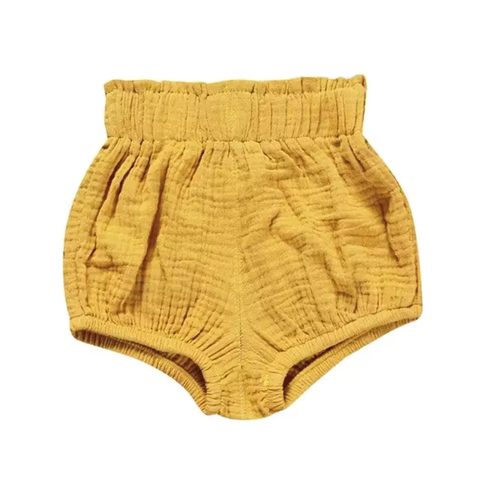 Girl's Mustard Bubble Shorts