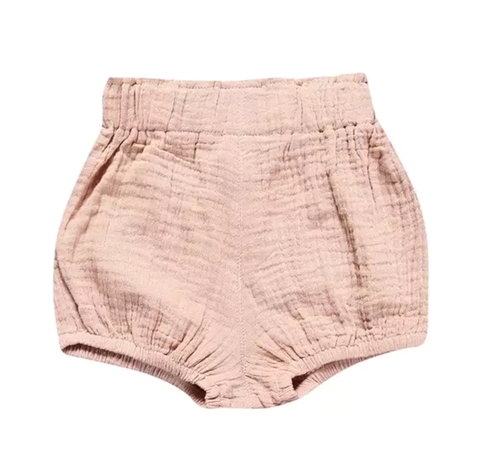 Girl's Peachy Pink Bubble Shorts