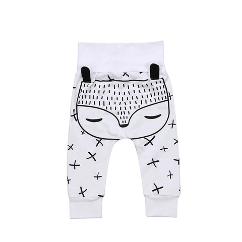 Black and White Fox Baby Joggers