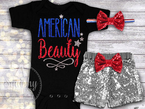 Girl's American Beauty 4th of July Outfit