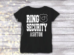 Boy's Ring Security Ring Bearer Shirt