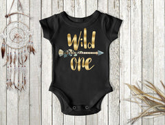 Boy's Wild One Arrow First Birthday Top