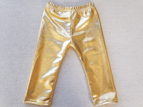 BLOWOUT Gold Metallic Pants