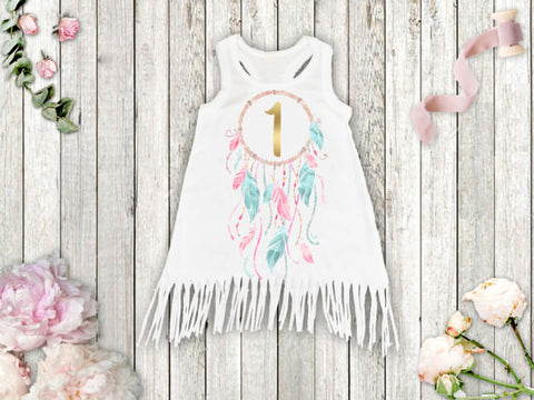 Dream Catcher Birthday Boho Dress