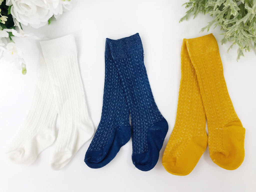 d08562283 Sunlake Cable Knit Knee High Socks – Squishy Cheeks