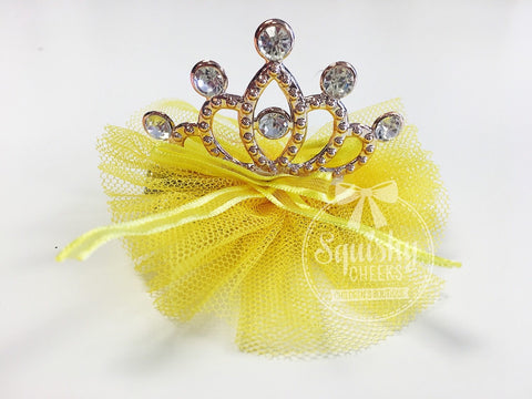 BLOWOUT Yellow Princess Crown Clip